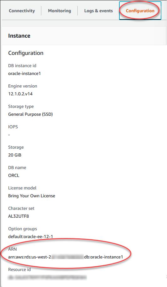 Working with Amazon Resource Names (ARNs) in Amazon RDS - Amazon