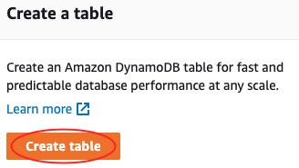 Step 1: Create a Table - Amazon DynamoDB