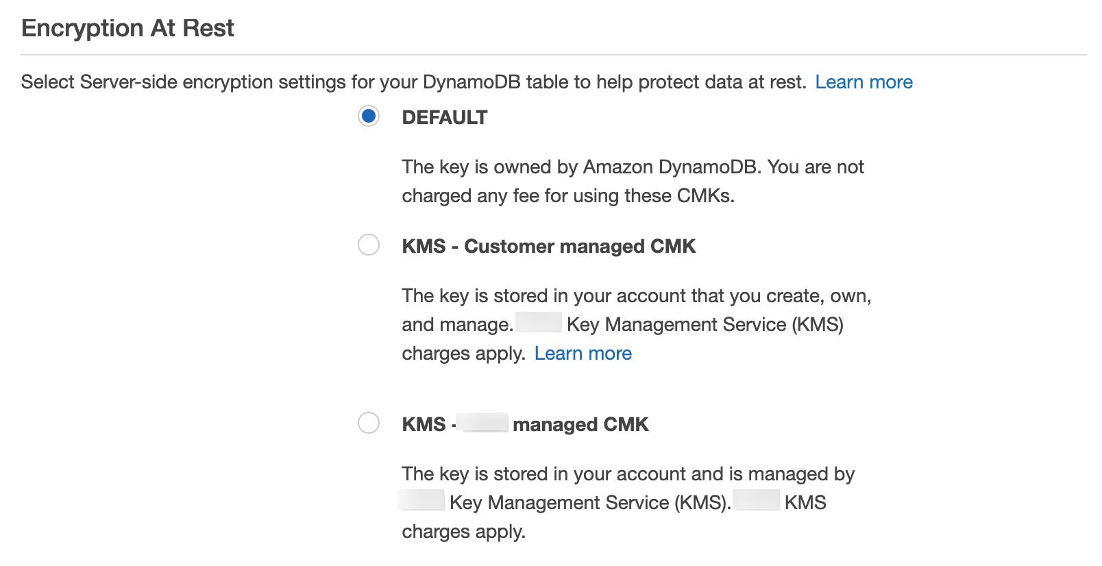 Managing Encrypted Tables - Amazon DynamoDB