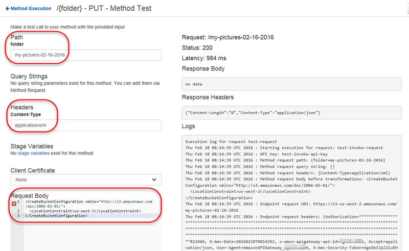 TUTORIAL: Create a REST API as an Amazon S3 Proxy in API