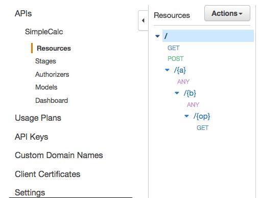 Simple Calculator API in API Gateway - Amazon API Gateway