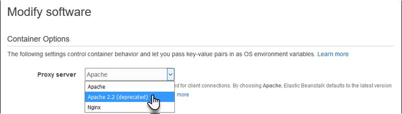 Configuring Your Tomcat Environment's Proxy Server - AWS